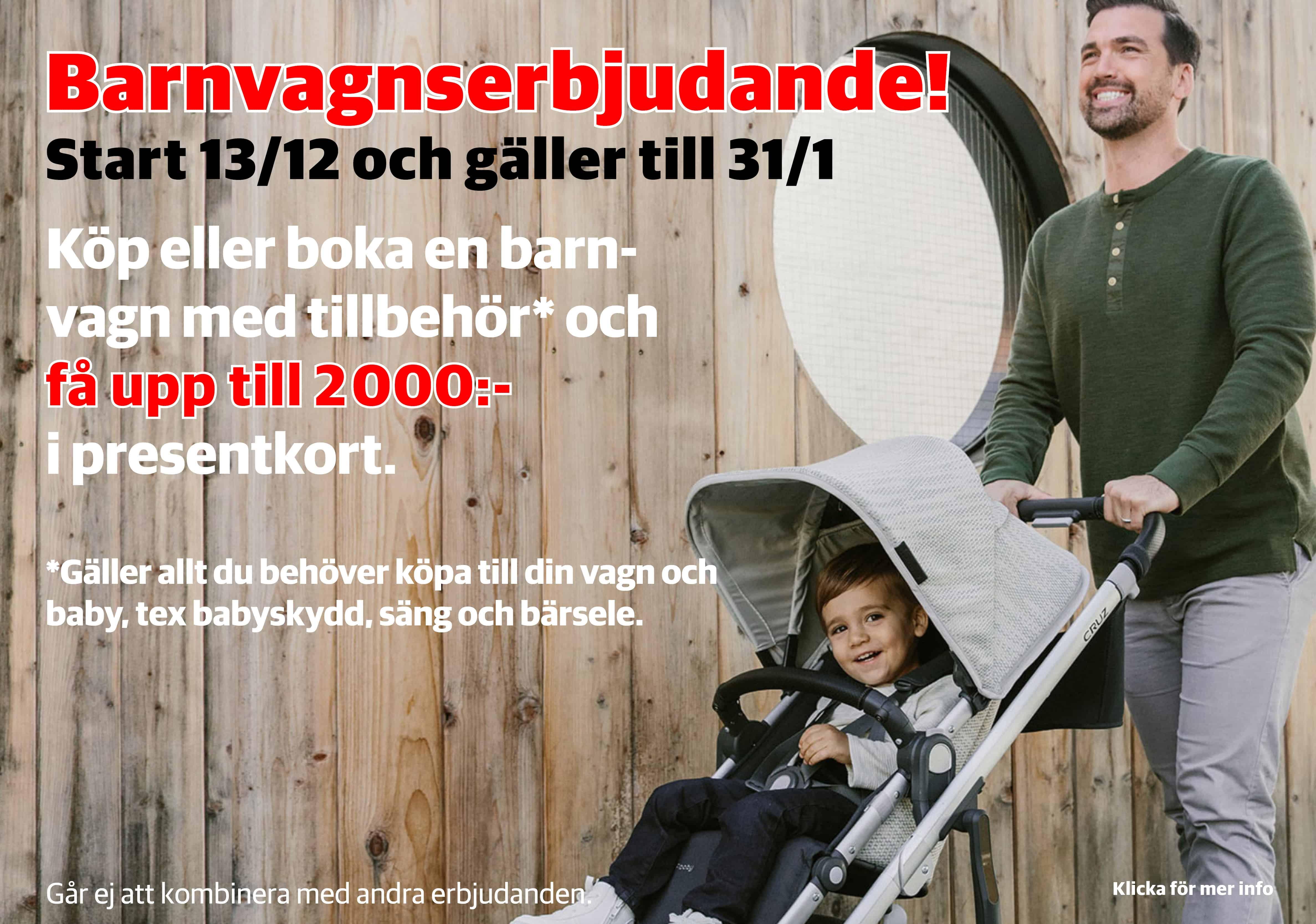 Barnvagnserbjudande